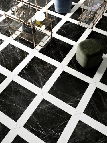 Prestigio Marquinia Lucido 60x60 Carrara Lucido Losanga 14,5x60